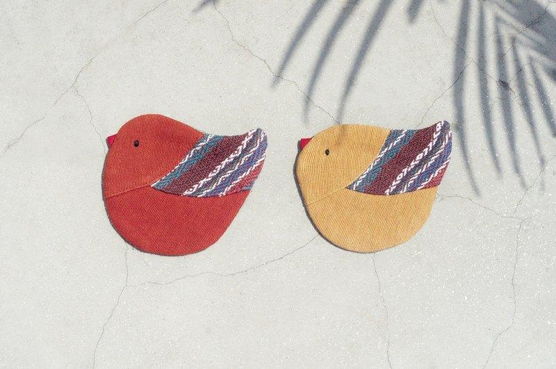 情人节 限量手工织布小鸟零钱包 / 收纳包 / 小包 / 杂物包 / 耳机