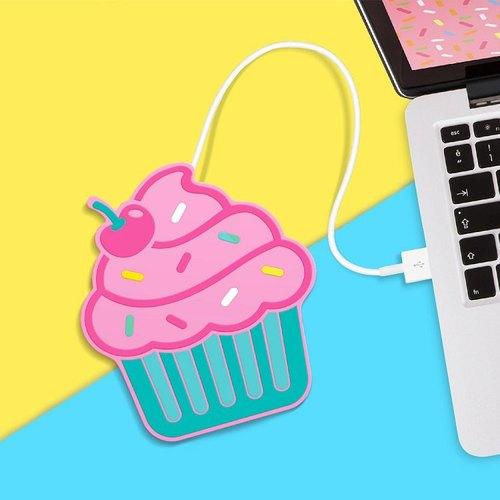 英國 Mustard USB 保溫杯墊 - 杯子蛋糕