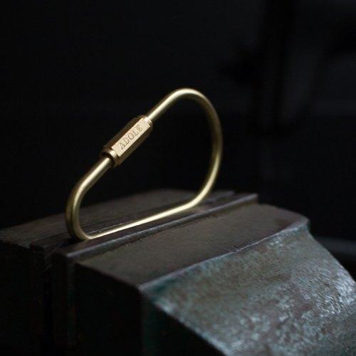 【ADOLE】手工黃銅鑰匙圈/水滴型Drop