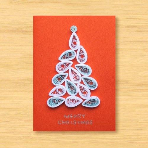 手工卷纸卡片:圣诞树 m(圣诞卡,圣诞节)
