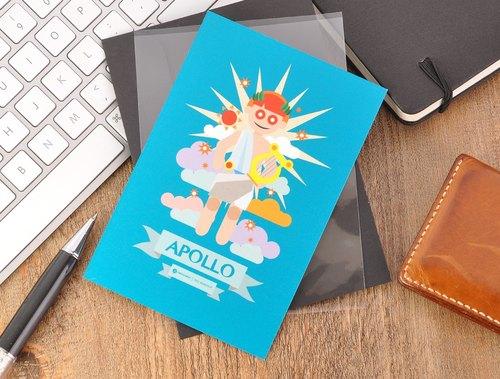 希臘神話之神 - 太陽神阿波羅明信片