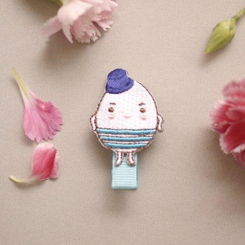 [肌膚新習慣吉祥物]超cute煮蛋先生髮夾Mr.Jet'aime(知名插畫家Amily Shen合作設計)