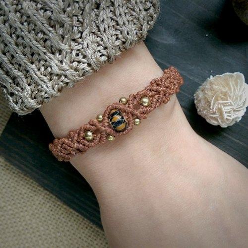 琉璃珠手工编绳手环