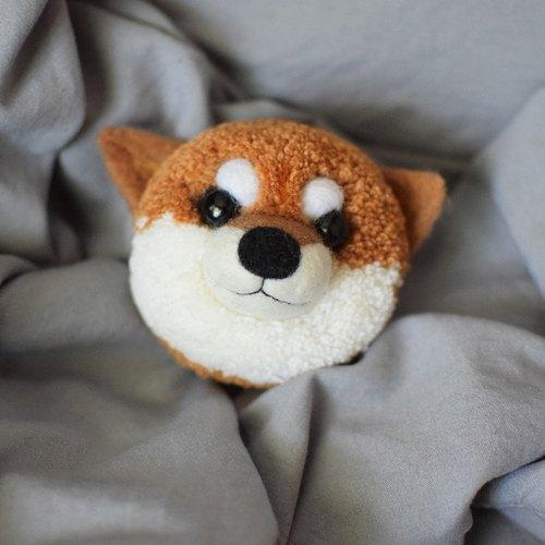 柴犬可爱宠物公仔狗狗手作玩偶羊毛大号羊毛毡手工制生日礼物