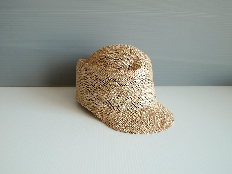 Cap straw hat hat hat fine rough unisex ladies men's handmade