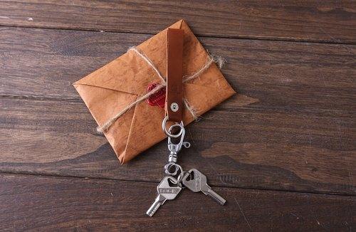 手工牛皮樹膏皮鑰匙鏈真皮鑰匙圈鑰匙掛鑰匙環