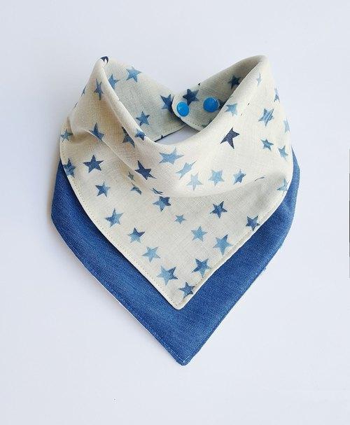 手工制作的二层纱布婴儿口水巾/围兜