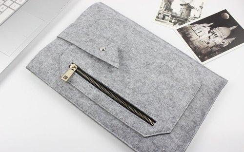 限時特價 僅此一個 售完即止 淺灰色 毛氈 蘋果 電腦保護套 毛氈套 MacBook 11吋 筆電包 電腦包 MacBook Air 11.6