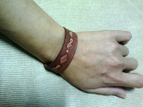 〖菱音〗手工皮雕手環(馬太鞍皮雕系列)