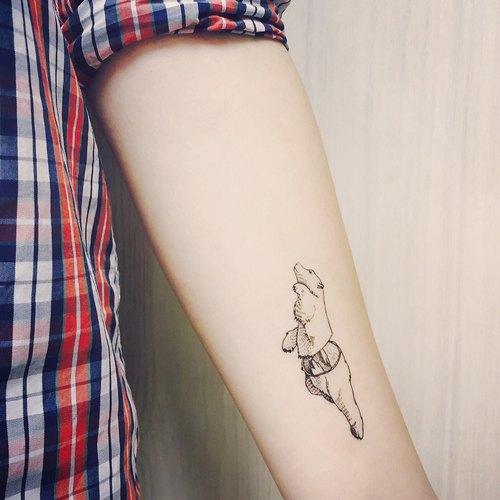 cottontatt polar bear 北极熊 手绘 纹身贴纸
