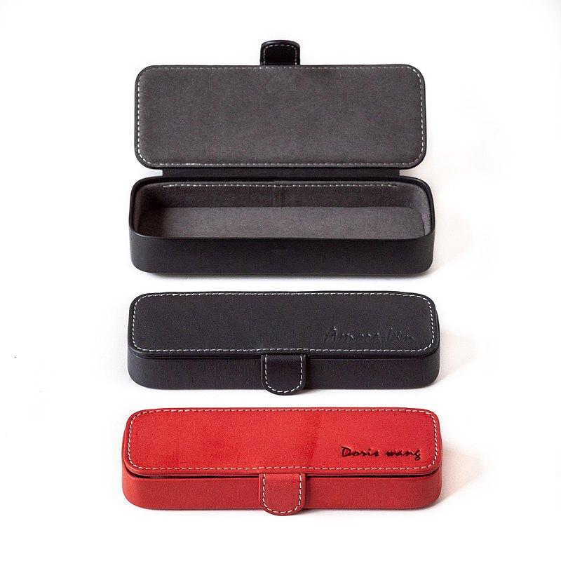 Patina Leather Hand Made Custom Seal Box Pen Box Glasses Box Jewelry Box Patina Taiwan Pencil Cases Pinkoi