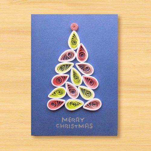 手工卷纸卡片:圣诞树 n(圣诞卡,圣诞节)