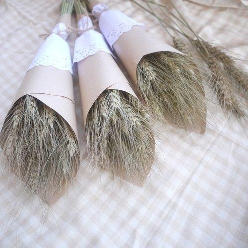 未完待續 | 小麥 乾燥 花束 在地小農 小花束 禮物 送禮 婚禮布置 蕾絲 鄉村風 zakka