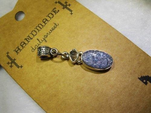 muso : 丹泉石(Tanzanite) +閃靈鑽 墜飾,925純銀 坦桑石 , Silver Pendant