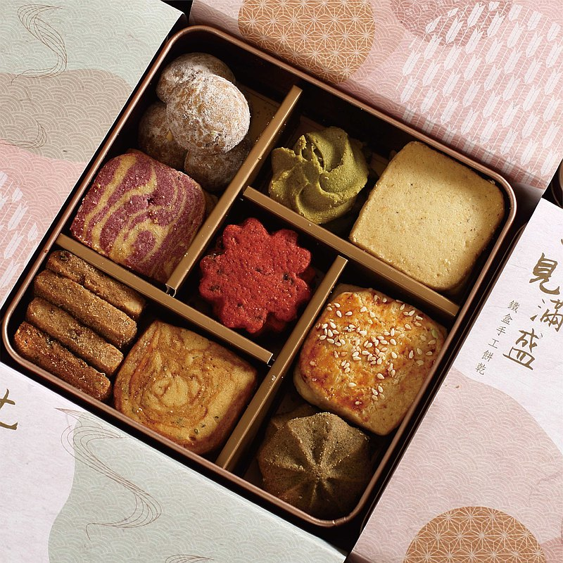 [Sakura Hall of Seven Sees] Seven Sees Man Sheng-Iron Box Handmade Biscuit Gift