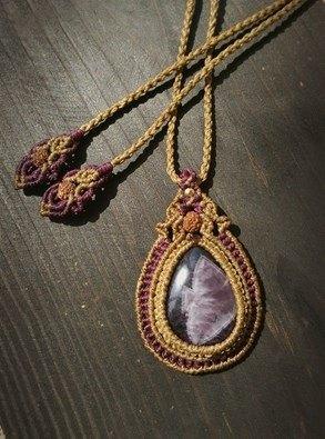 紫水晶手工编绳项链
