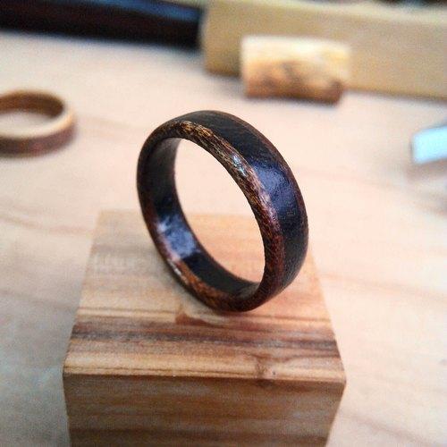 手工制作 黑胡桃-鸡翅木-黑胡桃 名贵木料 木戒指 附