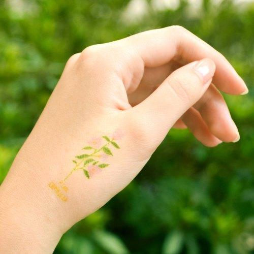 山茶花 一套5款 刺青 纹身贴纸