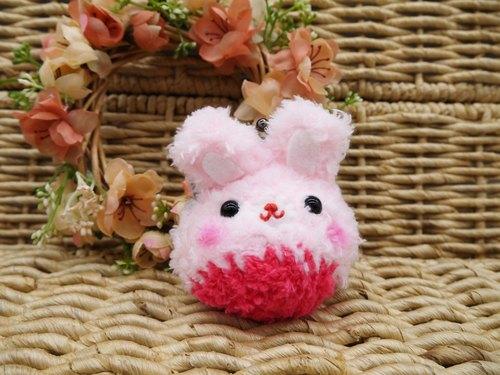 毛线编织动物零钱包 mini口金包-蓓比兔