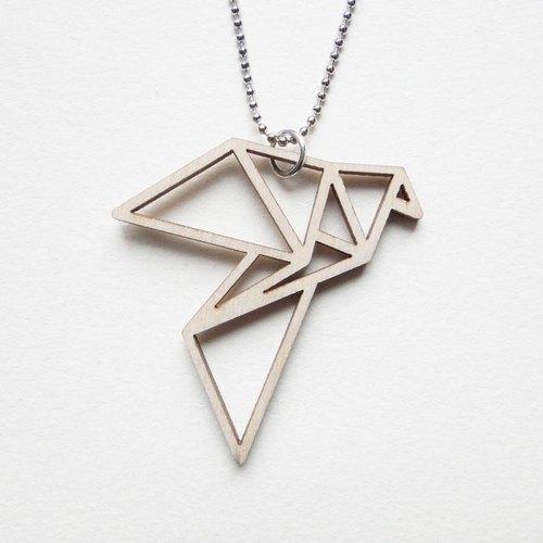和平鸽 - 镂空 / 几何木质项链
