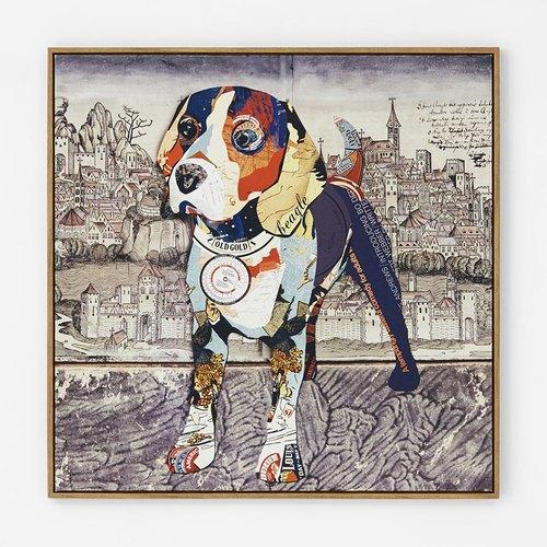 异见动物装饰画 现代简约客厅壁画 儿童房装饰画狗狗环游世界