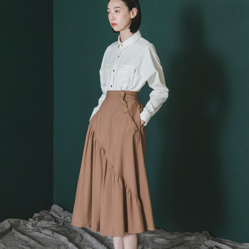 Transform_Wrinkled Skirt_9AF250_Autumn_Brown