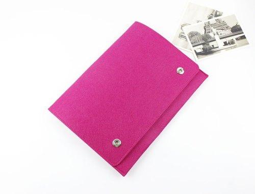 限時特價 一款僅此一個 售完即止 玫紅色 毛氈 蘋果 電腦保護套 Macbook Pro 13吋 筆電包 電腦包