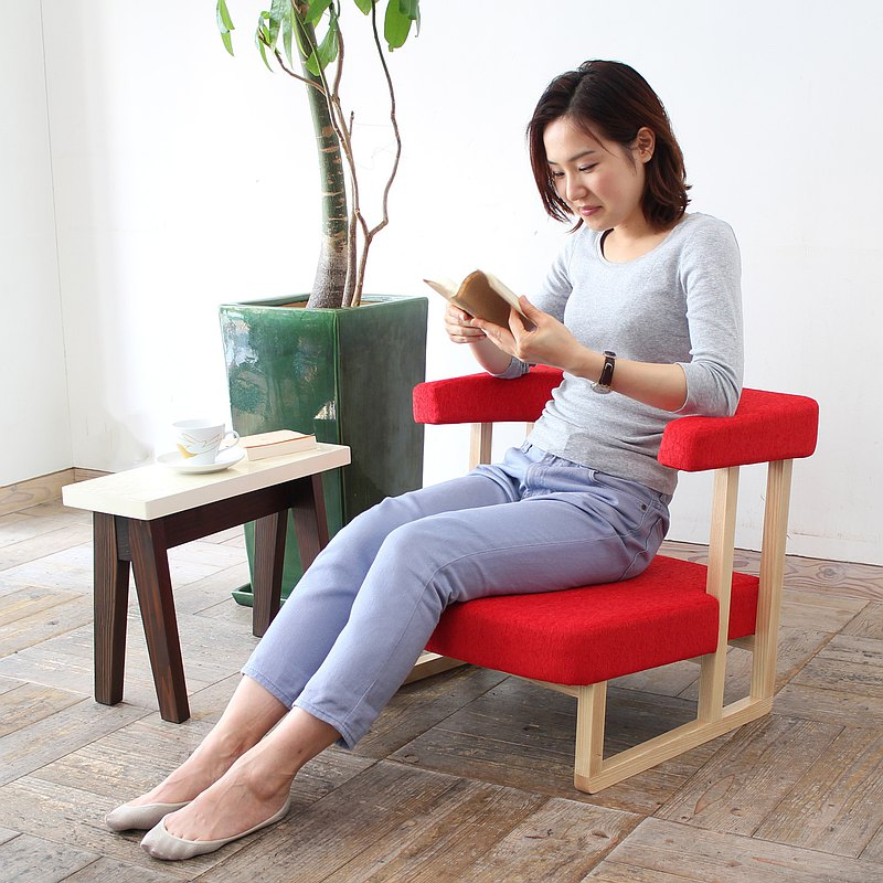 Personal Care Sofa【wood frame】Natural【fabric】Red
