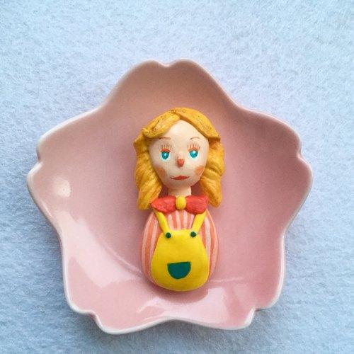 娃娃可爱精灵超轻粘土纸黏土陶土胸针别针饰品clay