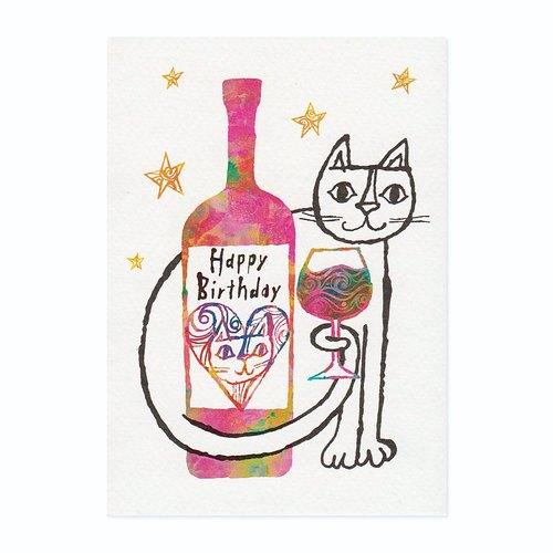 "okabe tetsuro 猫咪明信片""敬你的生日"""