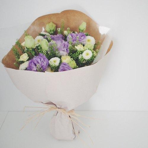 南法小花园包装花束