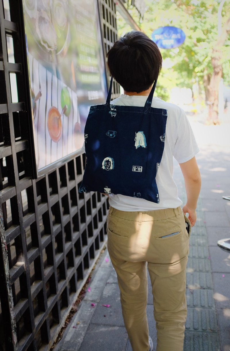 [Year of the Year] [Clearing Products] Grass dyed blue dyed cotton-dyed bags - Tokyo Shard