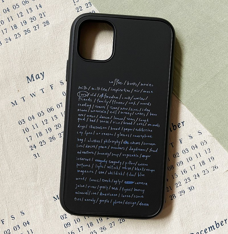 Indispensable Life list/Black/Rhino Shield solidsuit iPhone case