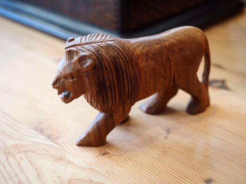 手工雕刻实木动物系列 非洲 狮子(共10款)
