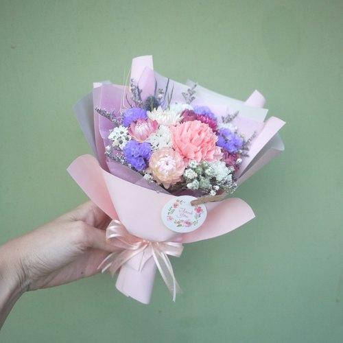 未完待续 | 母亲节限定 干燥花 小花束 康乃馨 附手工花卡片