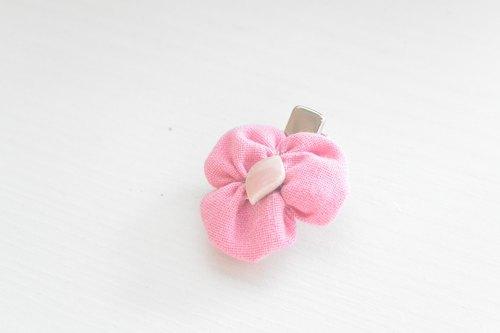 Baby三葉草髮夾-Pink