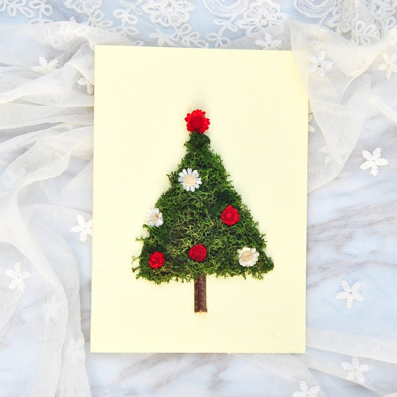 Dry Flower Card - Christmas Tree Christmas Card / Christmas Card ...
