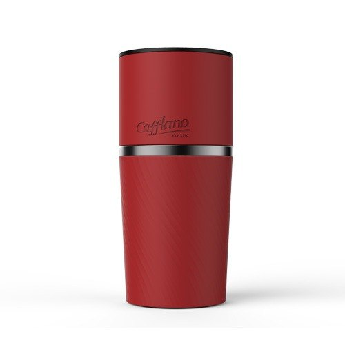 【CAFFLANO】韓國手沖研磨咖啡隨行杯-紅色