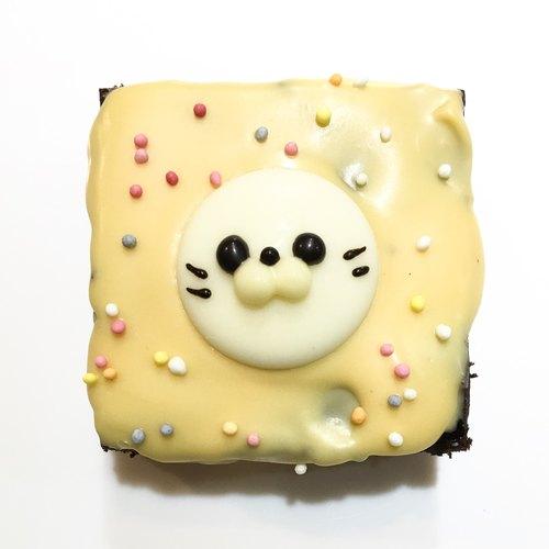 【黑熊先生巧克力布朗尼】小動物布朗尼-小海豹(升級圖案加購)