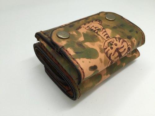 ltz动物图案皮雕皮夹 零钱包(马+虎款)