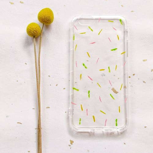 水果冰淇淋 手绘压克力手机壳 防摔空压壳