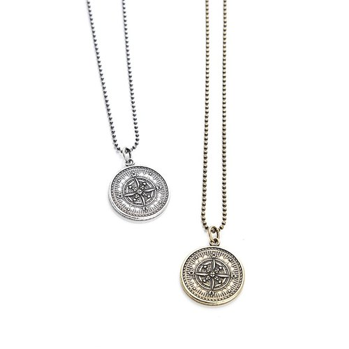 荷米斯使神幣項鍊飾 Solo Accessories Hermes Compass Necklace