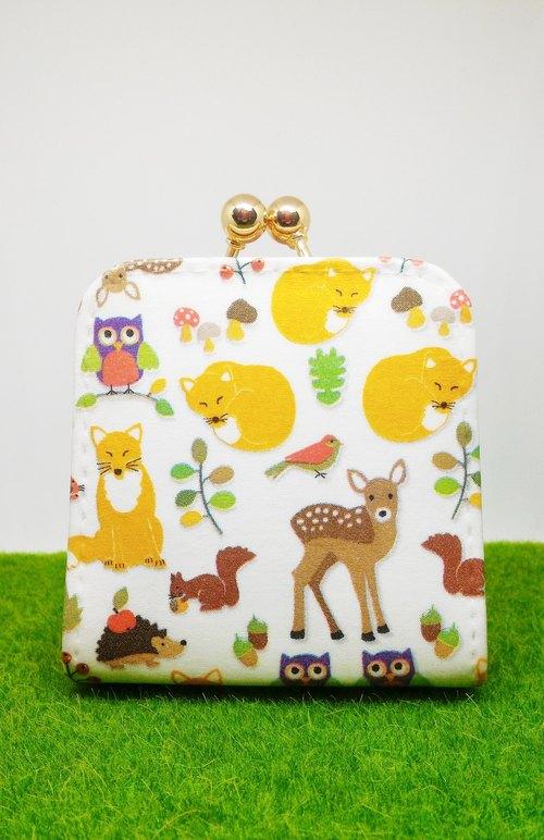 手工 圣诞礼物- 森林小动物 口金零钱包