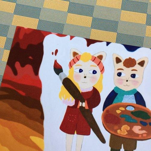 未來的日子一起想像  貓咪 卡片明信片