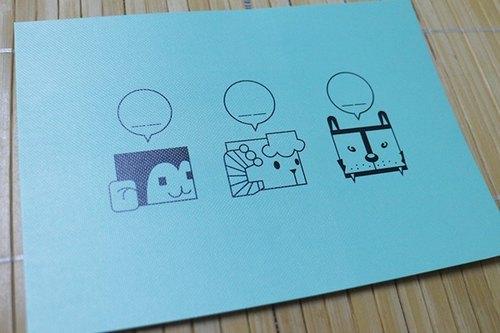蒂芬妮藍好野人明信片