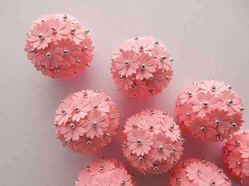 绣球花系列-磁铁-粉红色