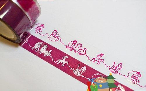 PET テープ /【一起來玩唄 / 透明膠帶】(陰刻與陽刻,各1入)【Let's Party! / PET Tape】(2 pack: intaglio & cameo)