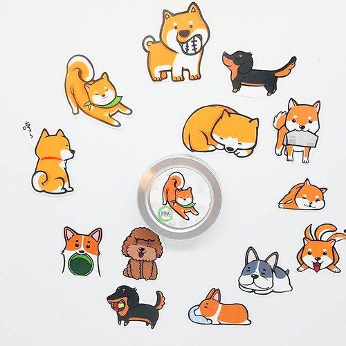 狗狗手帐贴纸 - 粗眉动物园 | pinkoi