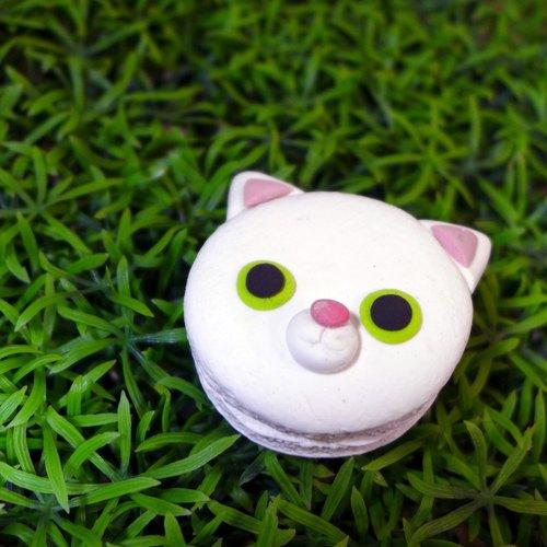 【土星垣】白猫四号钥匙圈|毛孩星球系列|【saturn ring】pet planet
