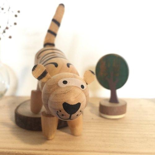 木制小动物 74 - 老虎